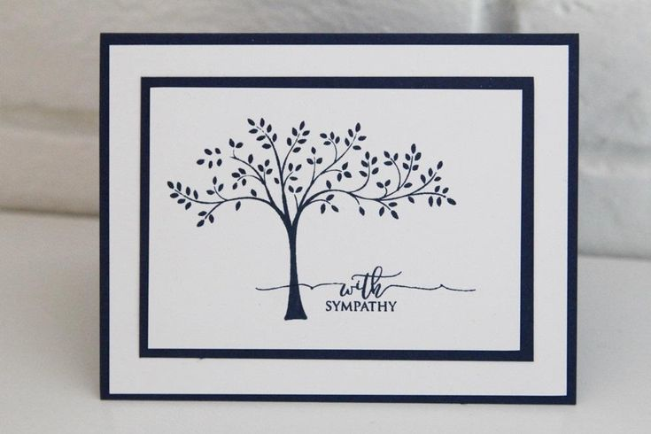 Flowly Tree With Sympathy Greeting Card, Thinking of You Card