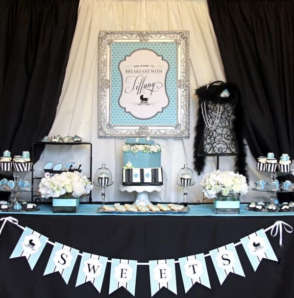 Gorgeous Girl Baby Shower Dessert Tables - Design Dazzle