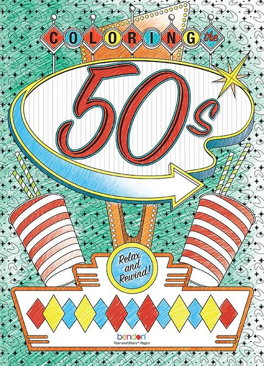 Bendon Advanced Coloring Book The 50s Bendon My Coloring
