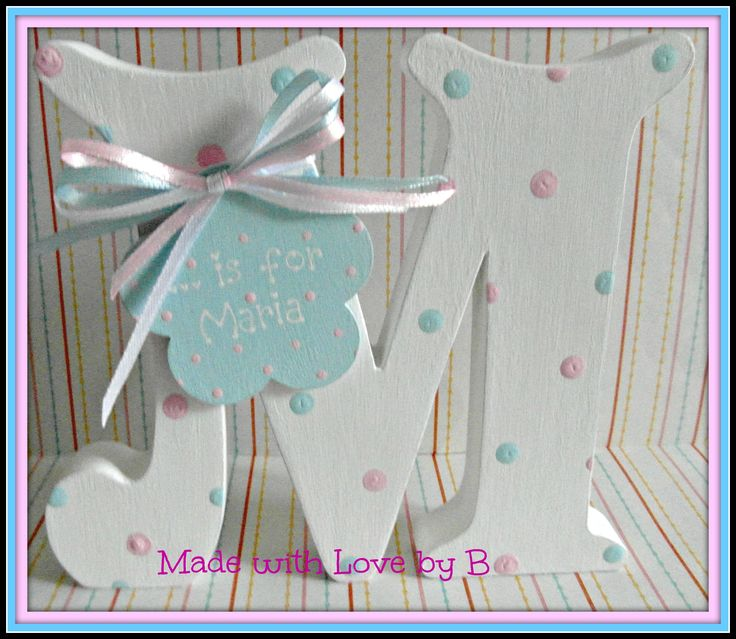 Personalised freestanding letter