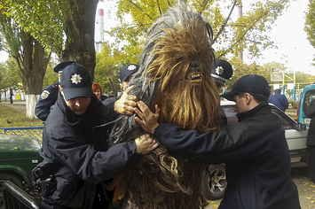 Chewbacca Was Arrested For Trying To Help Darth Vader Vote In An Election