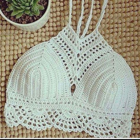 Cropped | croche | frente única | branco | top