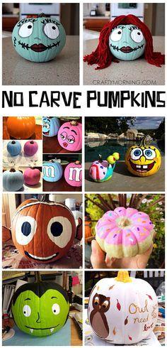 15+ No Carve Halloween Pumpkin Ideas for Kids to Make!