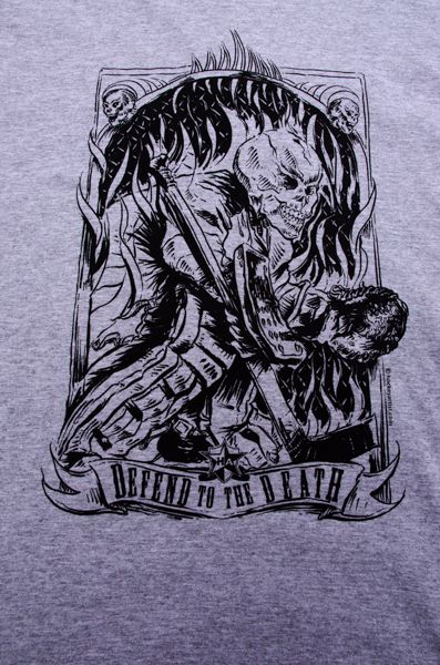 Skull Tees are finally here - Goalies show your reckless abandon - Defend to the Death t-shirt under your equipment. www.oldskullhockey.com 20%OFF