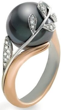Black pearl beautiful ring