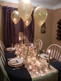cute table for a small New Years dinner