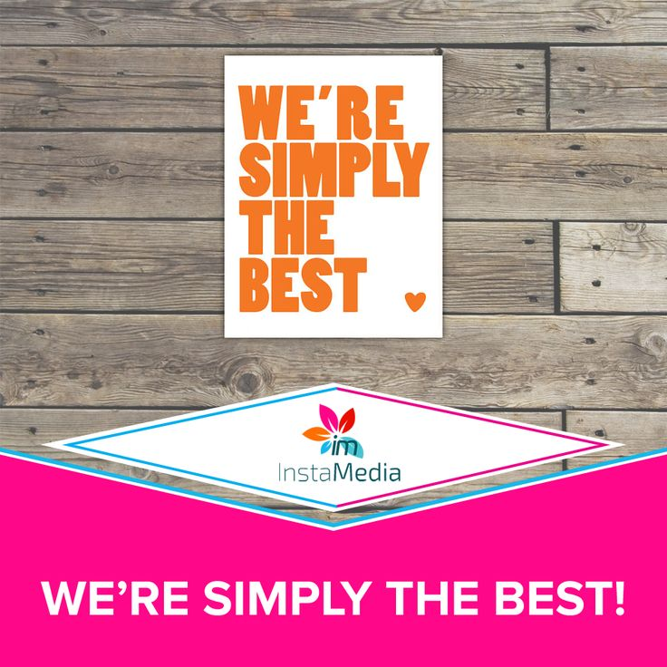 We're simply the best! Effective, affordable, versatile marketing!  Call Instamedia at 525 9595! #instamedia #SEO #marketing #caymanislands