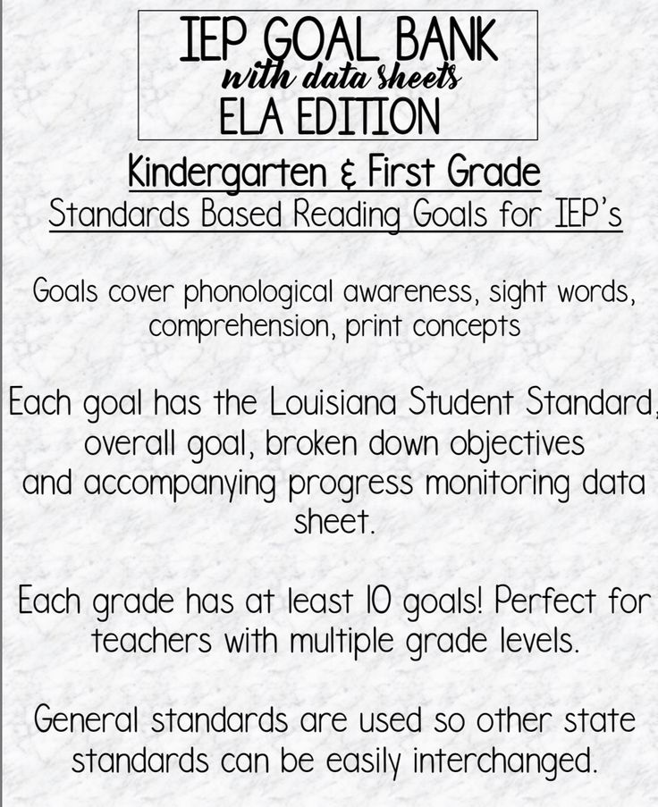 IEP GOAL BANK AND DATA SHEETS FOR SPECIAL EDUCATION