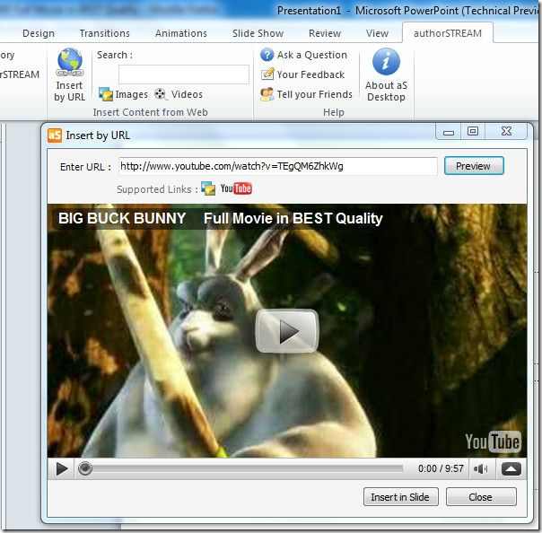 Add or embed videos into Power Point 2010