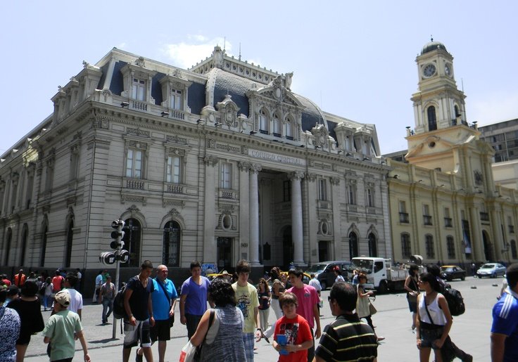 Oficina correos de Chile, plaza de Armas. Santiago, Chile.