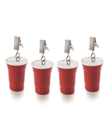 Another great find on #zulily! Red Cup Tablecloth Weights - Set of Four #zulilyfinds