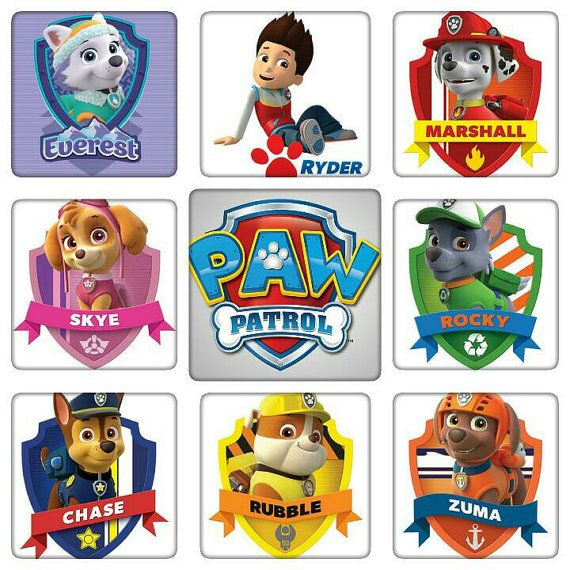 iron on paw patrol logo and or one pup only 1 image 5x7
