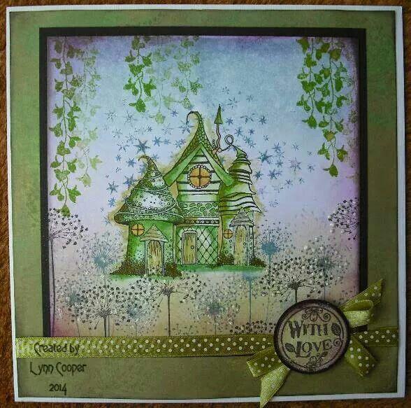 Beautiful Zentangle houses