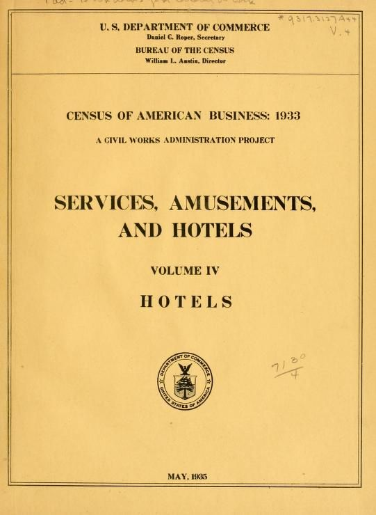 #11 Census of American business: 1933. A civil works administration project that was pretty well known.