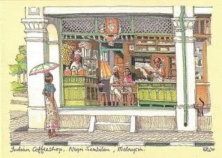 Cikgu Kema-Almari Lauk: Illustration Malaysia Poskad Mengimbau Rindu Kampung Halaman