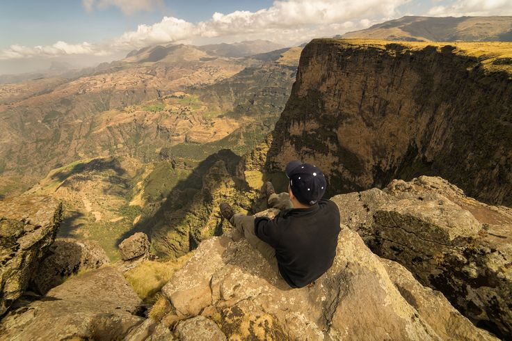 The epic view of the canyons beyond highup in the Simien Mountains. #Ethiopia #travel #photog #pod #photo