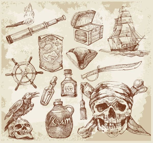 Nautical elements vector material