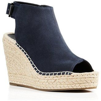Kenneth Cole Olivia Suede Espadrille Wedge Sandals - $130.00