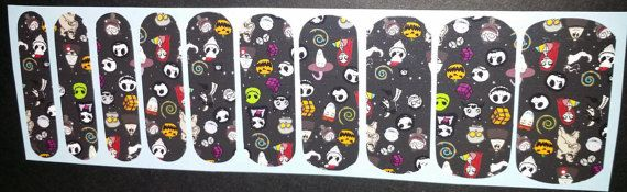 """""""Nightmare Before Christmas"""" Cast Jack Skellington Sally Nail Wraps NEW boutique #nailart adult #manicure, #pedicure Like #Jamberry #Halloween, #affiliate, #ad,#etsy"""
