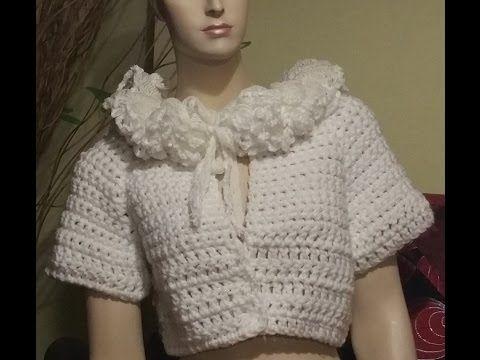 Tutorial cardigan all'uncinetto - Jacket crochet - chaqueta crochet - YouTube