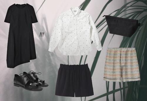 I have got some nice new things.  COS dress, COS shoes, Uniqlo polka-dot shirt, Uniqlo drawstring shorts, Marni for H shorts, Muji linen make-up bag: Linen Make Up, Muji Linen, Linen Bag, Polka Dot Shirt