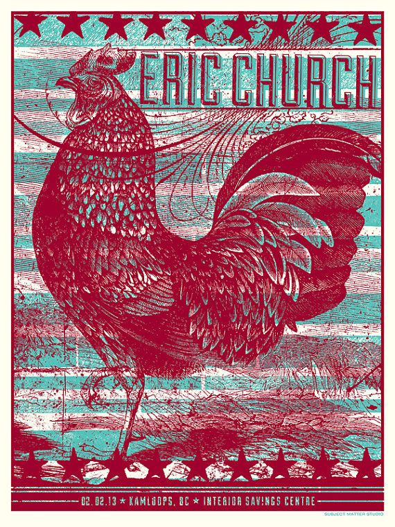 Eric Church Concert Poster Kamloops BC by subjectmatterstudio, $40.00