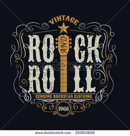 vintage rock and roll typographic for t-shirt ,tee design,poster,vector illustration