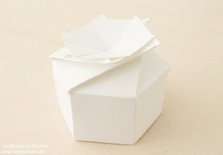 hexagonal origami box with lid instructions