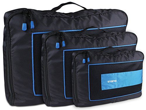 Durable Packing Cubes 3 Piece Set  Travel Luggage Packing Organizer  by Utopia Home >>> You can get more details by clicking on the image. Note:It is Affiliate Link to Amazon.