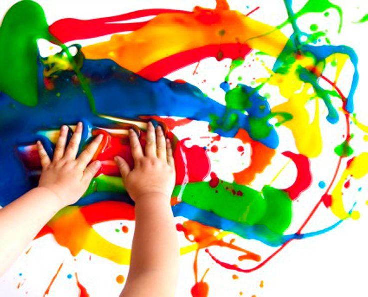 toplay Fingerfarver der kan vaskes af tøjet hvis uheldet skulle være ude