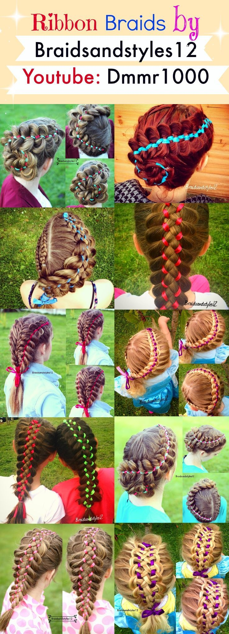 Braids with Ribbon by Braidsandstyles12 , DIY Braid Tutorials Youtube: www.youtube.com/... - Picmia