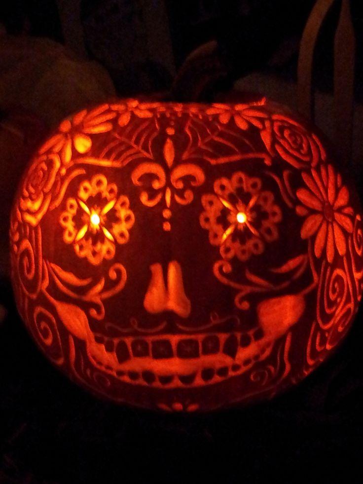 day of the dead pumpkin