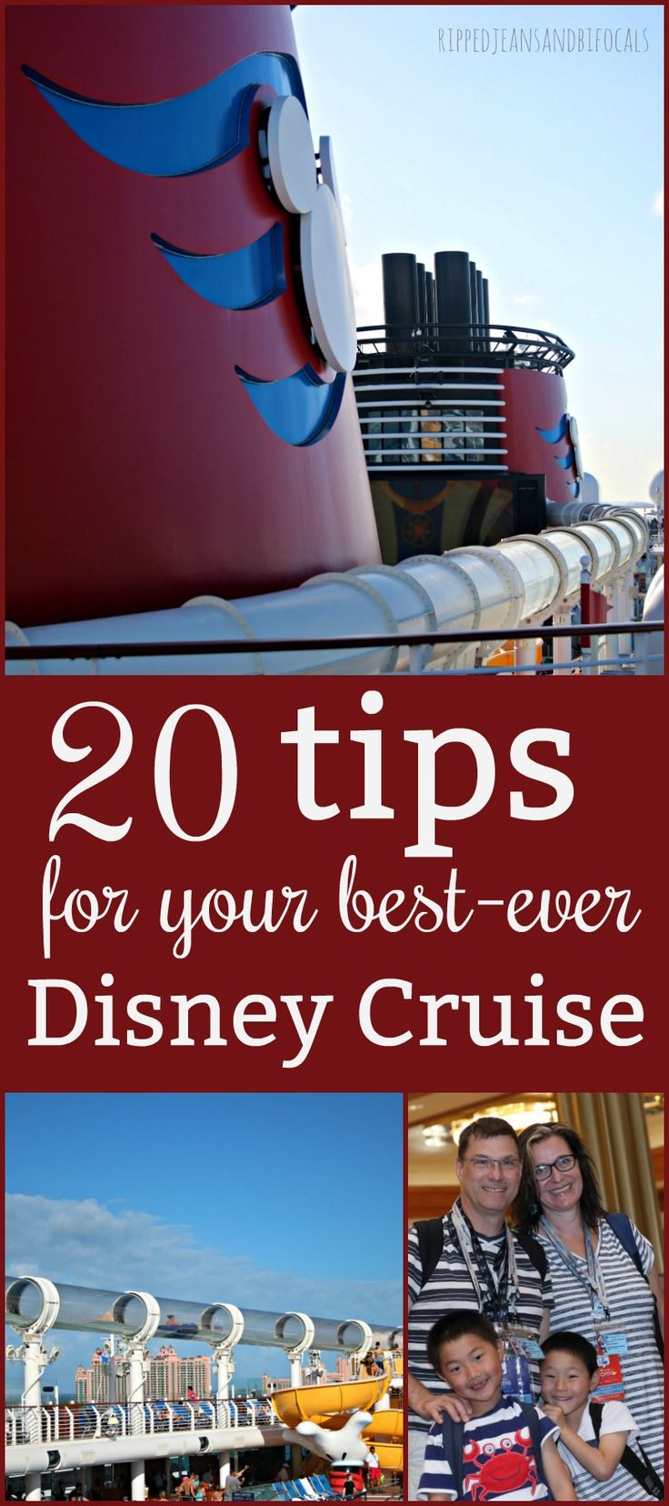 20 Best Disney Cruise Tips|RIpped Jeans and Bifocals  If you're going on a Disney Cruise, I'm excited for you (and a little jealous because I'm already ready for another one.) Here are my 20 best Disney Cruise tips that will help you as you plan your own ultimate family vacation.  #DisneyCruise #DisneyDream #TravelWithKids #Disney #DisneySMMC  |Family travel planning|Family vacation ideas|Family travel ideas|Family trip ideas|Disney vacation ideas| Cruise|Disney Cruise Planning|