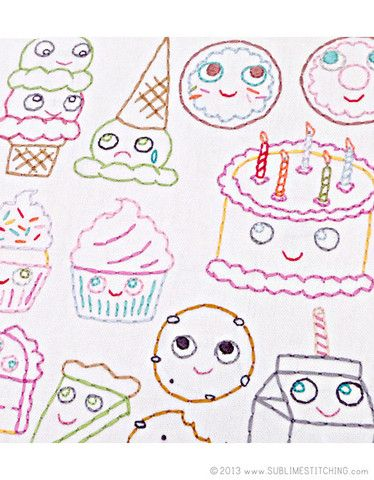 SWEET TREATS - Embroidery Patterns