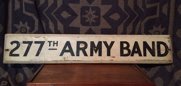 Antique Primitive Vintage Authentic Wood 277th US Army Band Military Sign AAFA | eBay