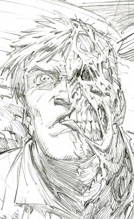 Greg Capullo Two Face sketch