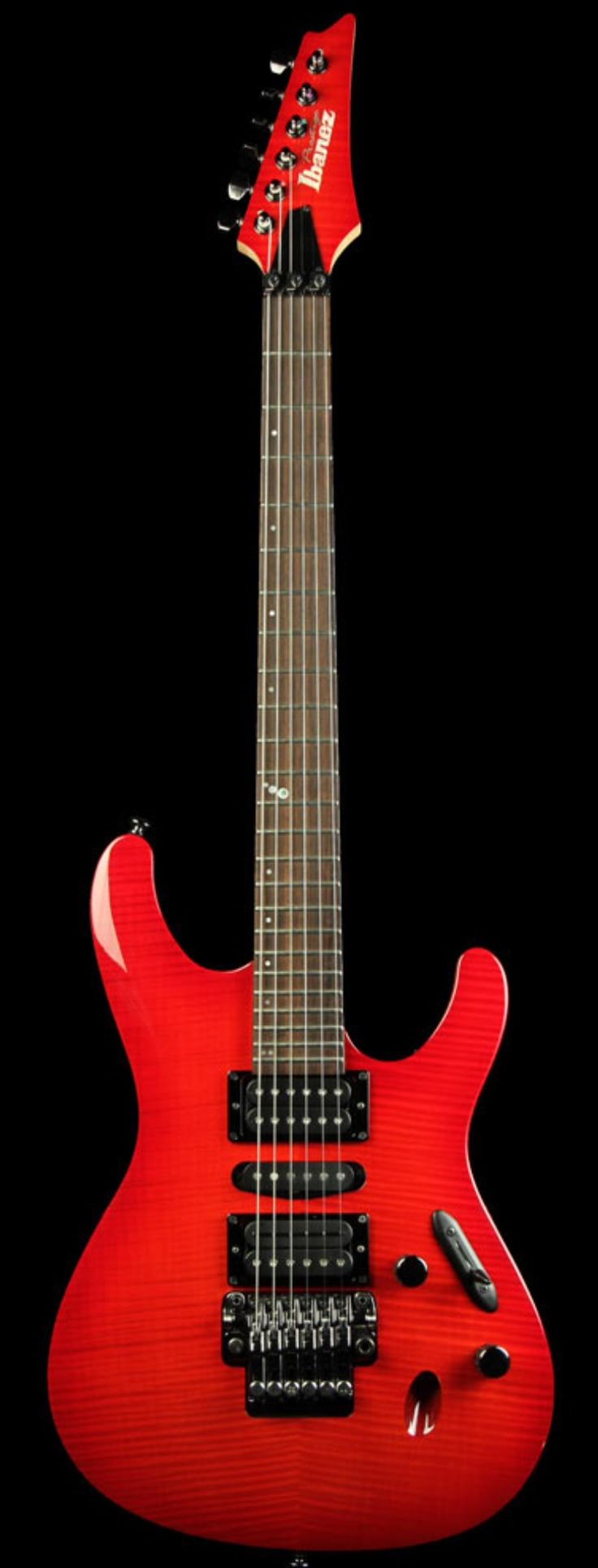 IBANEZ Prestige S5470F Flamed Maple Top Electric Guitar Red Viking | The Music Zoo