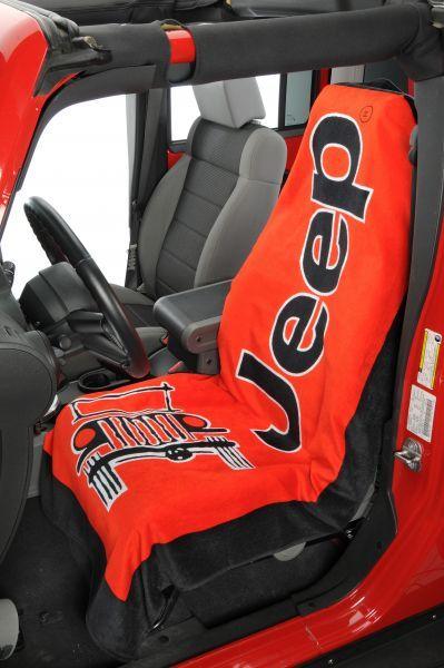 Jeep® Logo Towel 2 Go Seat Cover   Jeep Parts and Accessories   Quadratec