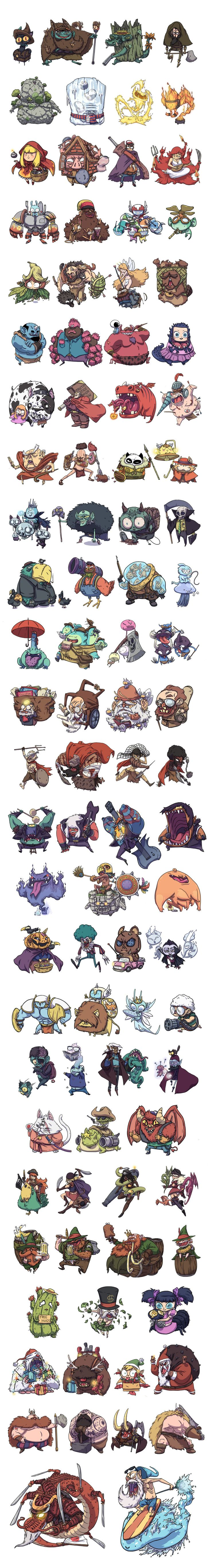Character designs compilation by BattlePeach on DeviantArt