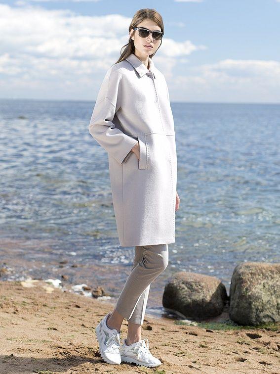 Пальто женское цвет сливочный, пальтовая ткань, артикул 3016270p00008