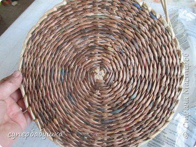 Мастер-класс Поделка изделие Плетение Круглое дно- звездочка Трубочки бумажные фото 1