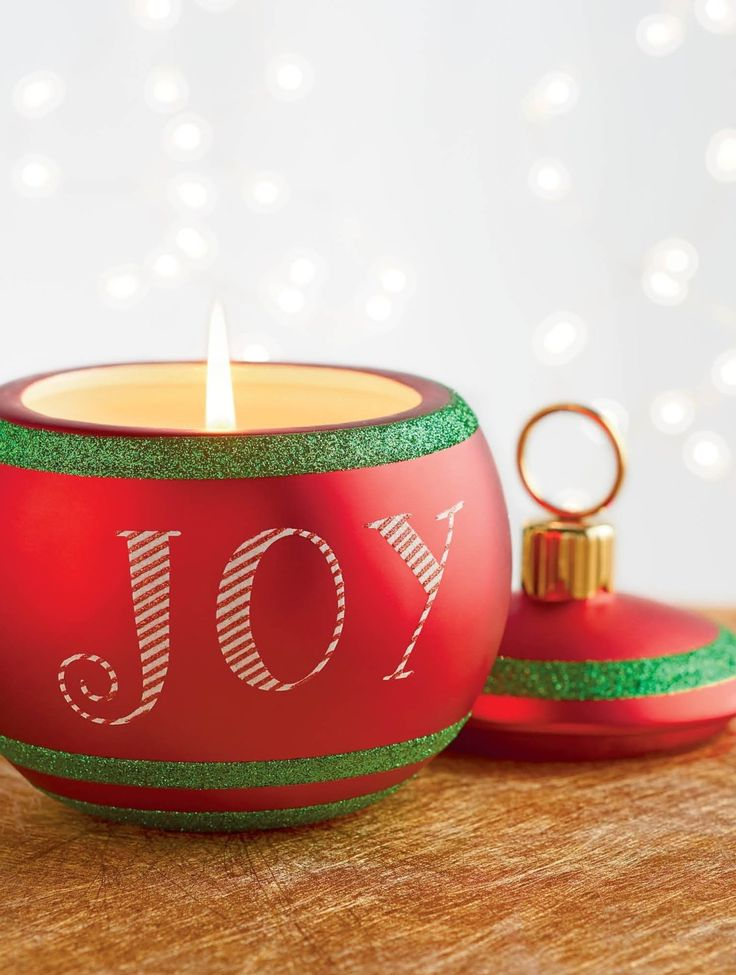 French Bee Joy Christmas Ornament Candle Frontgate Candles Christmas Ornaments Joy