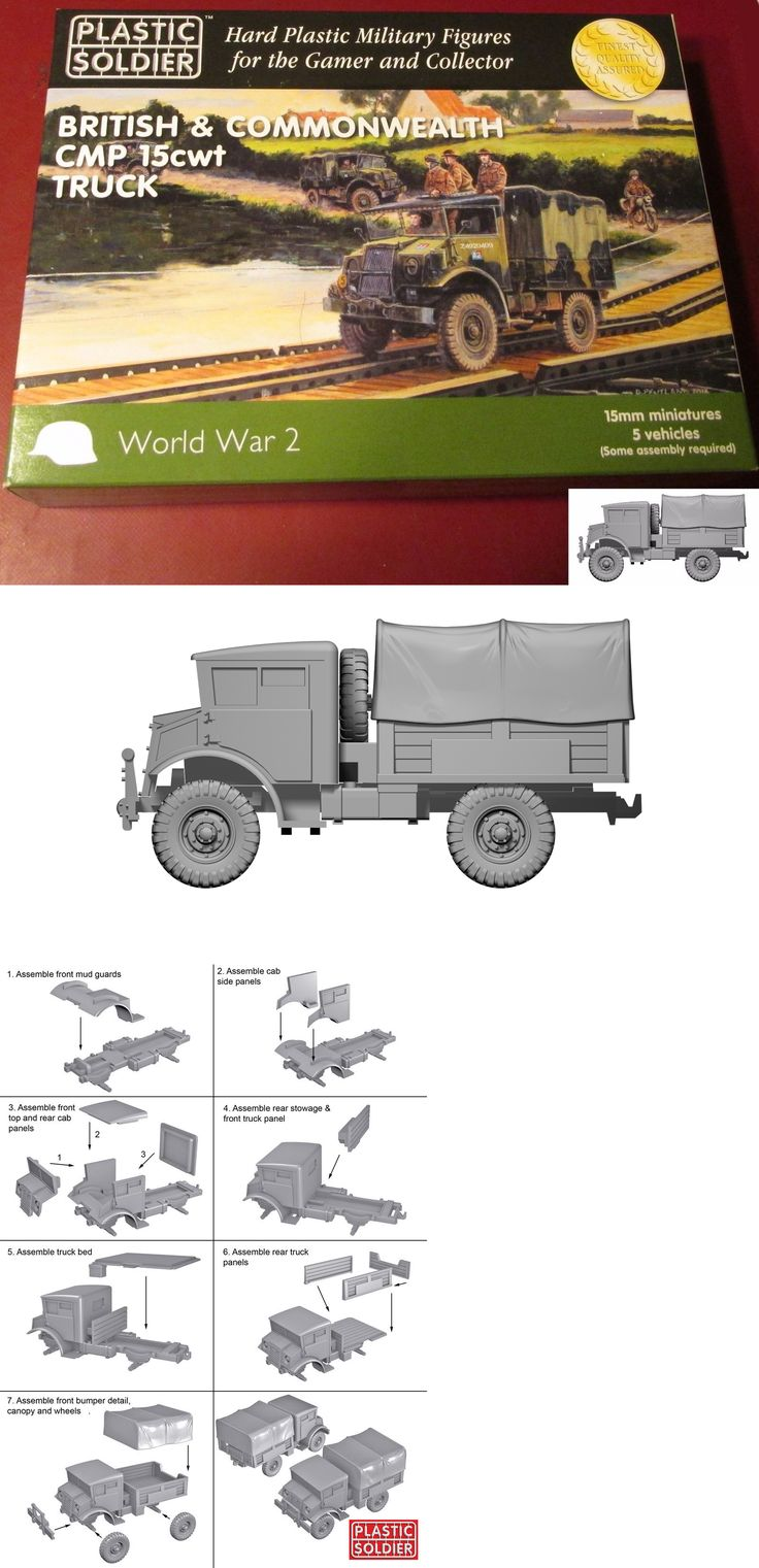 15mm 158728: Plastic Soldier Company Ww2v15030 Wwii 15Mm British And Commonwealth Cmp Truck Nib -> BUY IT NOW ONLY: $32.5 on eBay!