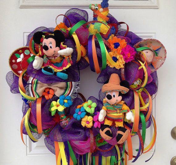 @Gina Pavon-Fiesta Cinco de Mayo Wreath Disney Fiesta by SparkleForYourCastle, $150.00