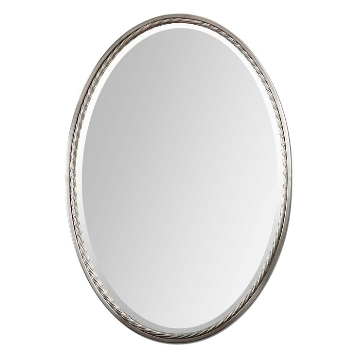 Photo Gallery On Website Casalina Nickel Oval Mirror with Rope Detail