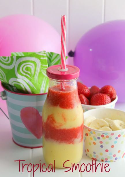 ad This layered Tropical Smoothie recipe is delicious and refreshing, a great way to start any morning! #BoostBacktoSchool