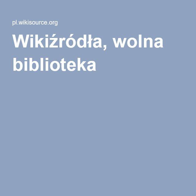 Wikiźródła, wolna biblioteka