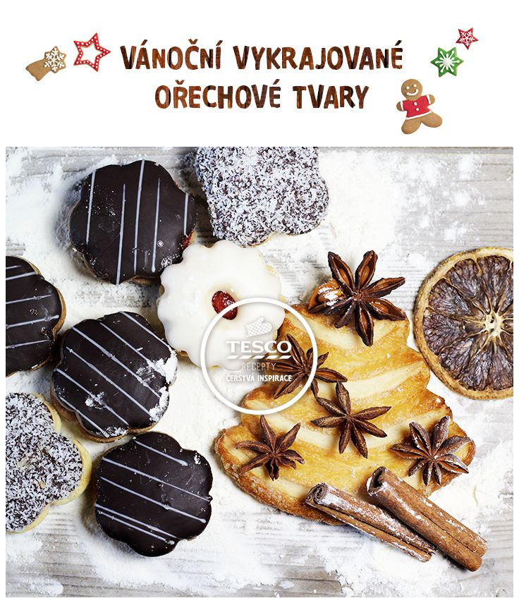 Vyzkoušejte výborné Vánoční vykrajované ořechové tvary!