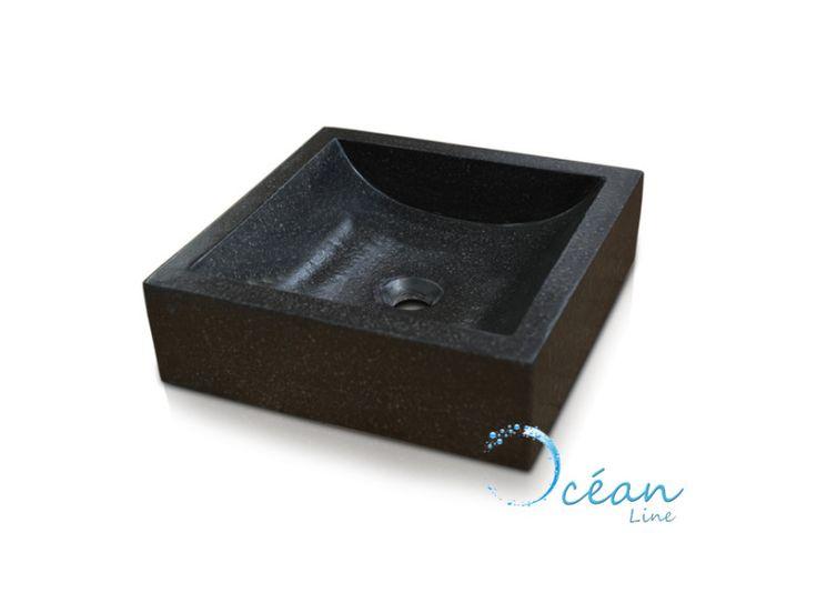 Vasque salle de bain à poser carrée, halfmoon noir en terrazzo - pas cher ? C'est sur Conforama.fr - large choix, prix discount et des offres exclusives Vasque et lavabo sur Conforama.fr