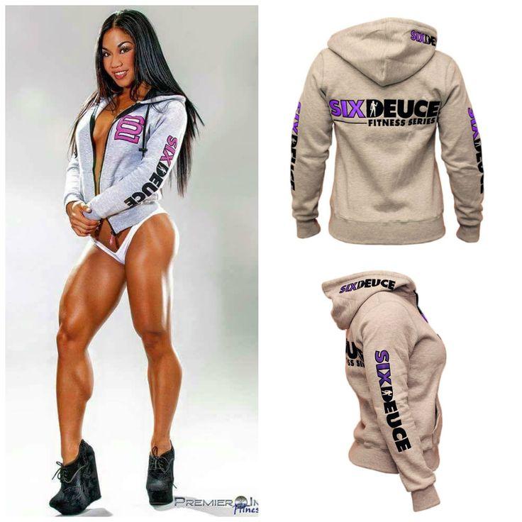 Official Six Deuce Athlete, Tina Nguyen, rocking the Six Deuce Fitness Series Hooded Full-Zip Sweatshirt. Get your Six Deuce apparel at www.Elite1FitGear.com Photog - Premier Images